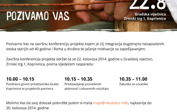 """Završna konferencija projekta """"Korak prema novim životnim mogućnostima"""""""