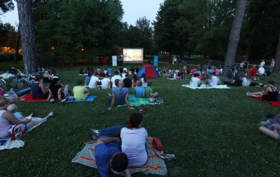 Open-air Cinema Draws Many to the City Park