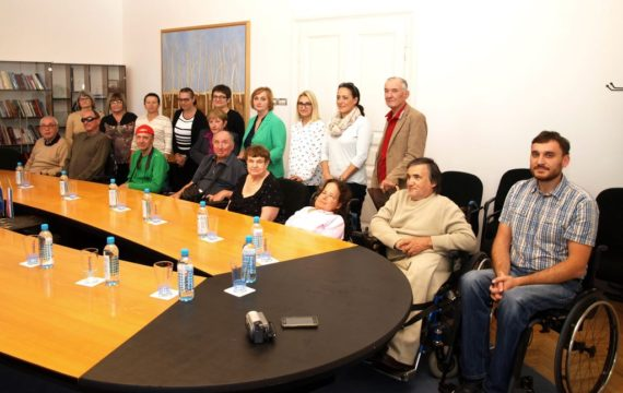 Reception for members of the Association of persons with physical disabilities from Pula