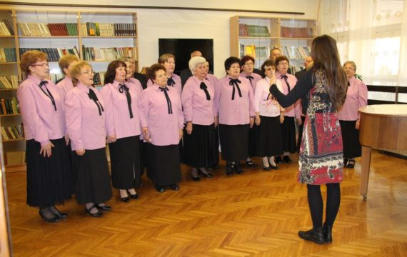 The choirs participating in the festival Choirs of pensioners parishes