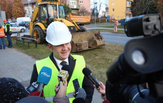 Započeli radovi na izgradnji dvosmjerne biciklističke staze u dijelu Ulice Ivana Meštrovića u Koprivnici