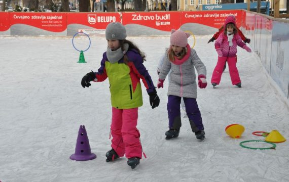 The end of the skating season on ice rink in Koprivnica