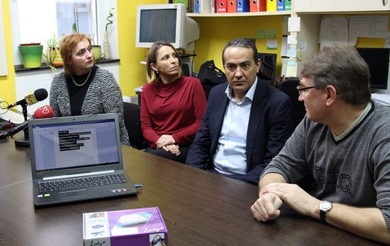 Association of the Blind and Visually Impaired of Koprivnica – Križevci County thanked Podravska bank for donation