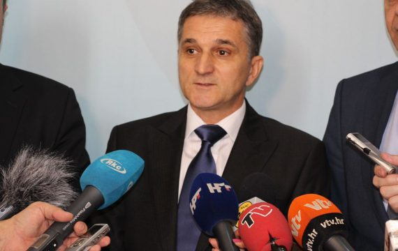 The Minister of state property Goran Marić on an official visit to city of Koprivnica