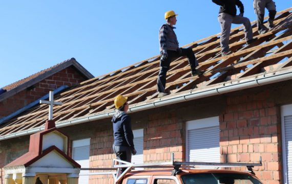 Rekonstrukcija krovišta Društvenog doma u Štaglincu
