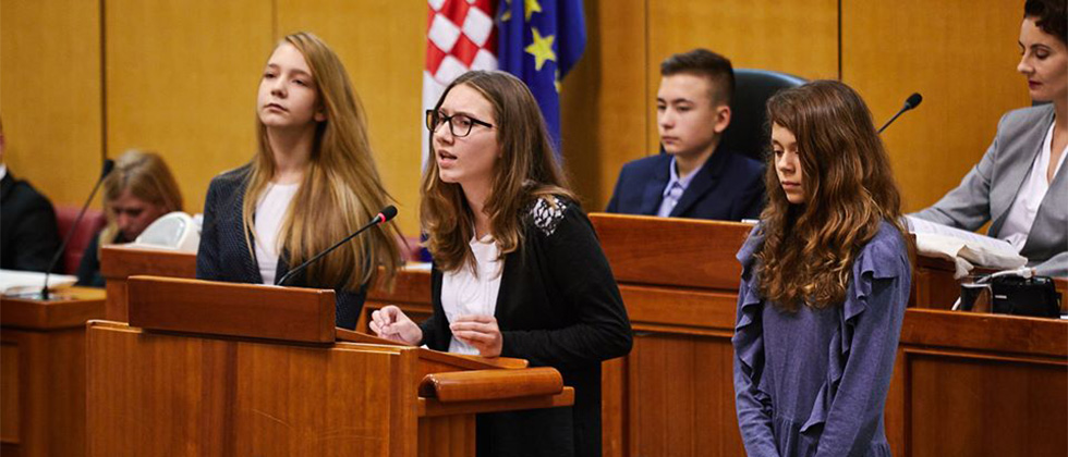 Predstavnici Dječjeg Gradskog vijeća Grada Koprivnice u Saboru