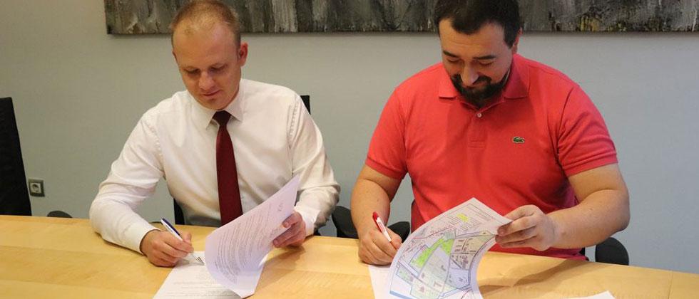 Potpisivanje ugovora - poslovna zona Dravska