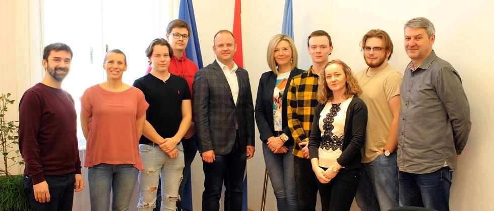 Prijem za učenike iz Švedske u sklopu projekta Obrtničke škole Koprivnica Erasmus+