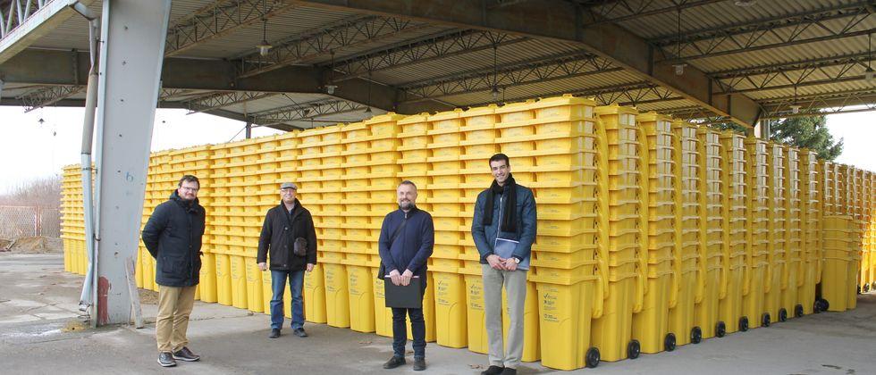 Dostava žutih kanti za odvojeno prikupljanje otpada
