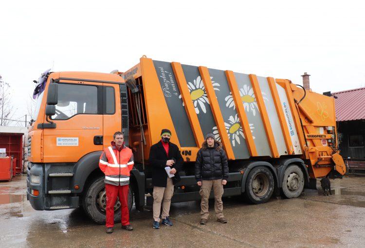 Djelatnici Komunalca dovezli vozilo za prikupljanje otpada u Sisak